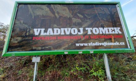 Popravený Vladivoj Tomek má v Praze 7 billboard