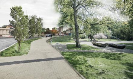 Kruhový objezd Na Kovárně budou krášlit květiny, v sousedství vznikne malý městský park